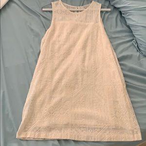 Wayf ivory mini lace dress size M